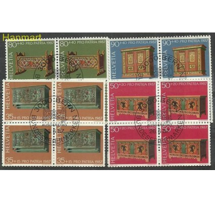Szwajcaria 1987 Mi 1345-1348 Stemplowane