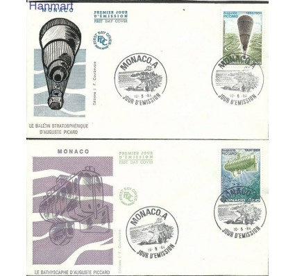 Monako 1984 Mi 1631-1632 FDC