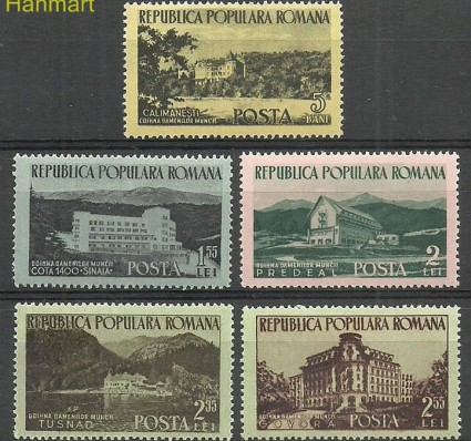 Rumunia 1954 Mi 1467-1471 Czyste **