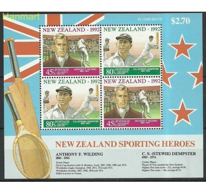 Znaczek Nowa Zelandia 1992 Mi bl34 Czyste **