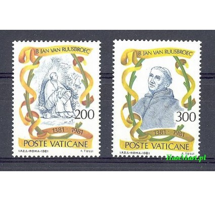 Znaczek Watykan 1981 Mi 789-790 Czyste **