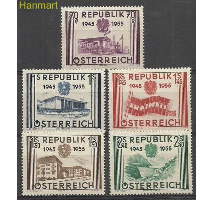 Znaczek Austria 1955 Mi 1012-1016 Czyste **