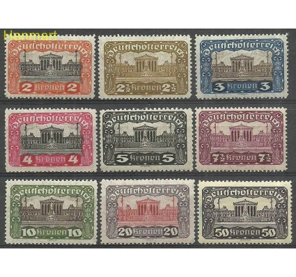 Znaczek Austria 1919-1921 Mi 284-292A Z podlepką *