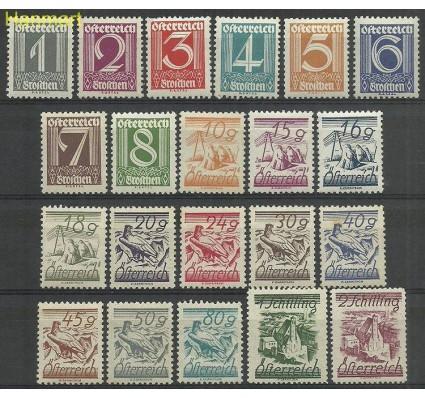 Znaczek Austria 1925 Mi 447-467 Z podlepką *