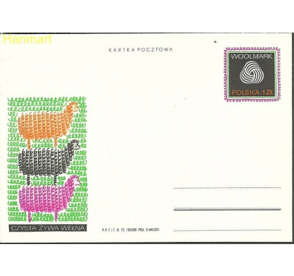 Znaczek Polska 1972 Fi Cp 546 Całostka pocztowa