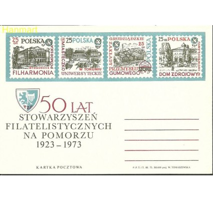 Znaczek Polska 1973 Fi Cp 566 Całostka pocztowa