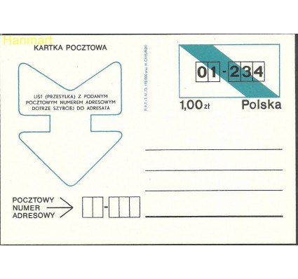 Polska 1973 Fi Cp 570 Całostka pocztowa
