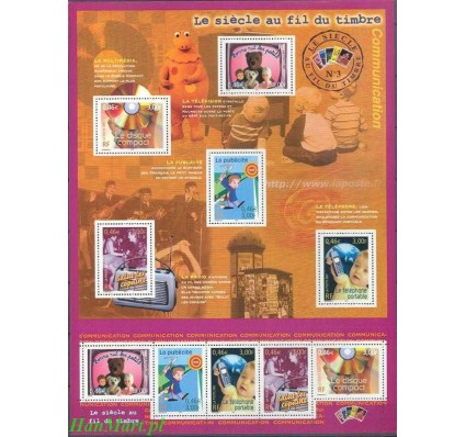 Francja 2001 Mi ark 3512-3516 Czyste **