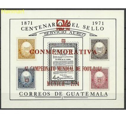 Znaczek Gwatemala 1974 Mi bl15b Czyste **