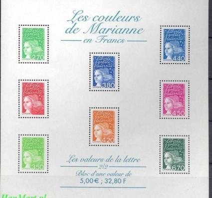Francja 1997 Mi ark 3225xIIa Czyste **