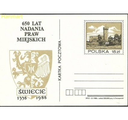 Znaczek Polska 1988 Fi Cp 988 Całostka pocztowa