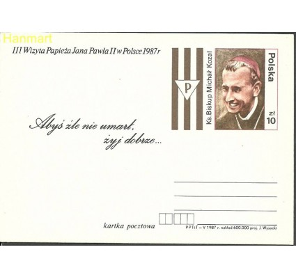 Znaczek Polska 1987 Fi Cp 958 Całostka pocztowa