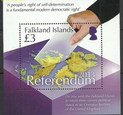 Znaczek Falklandy 2013 Mi bl47 Czyste **