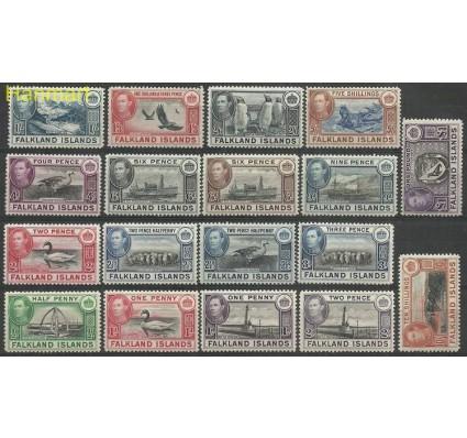 Znaczek Falklandy 1938 Mi 78-93 Z podlepką *