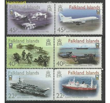 Znaczek Falklandy 2002 Mi par843-848 Czyste **