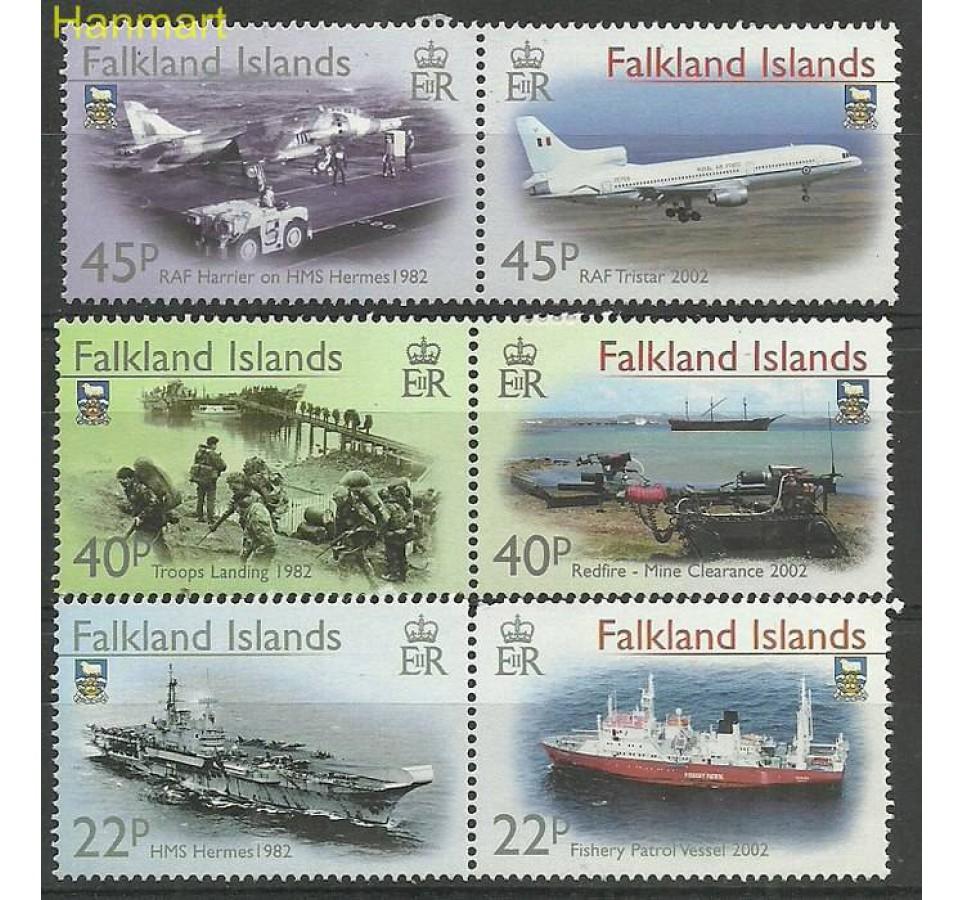 Falklandy 2002 Mi par843-848 Czyste **