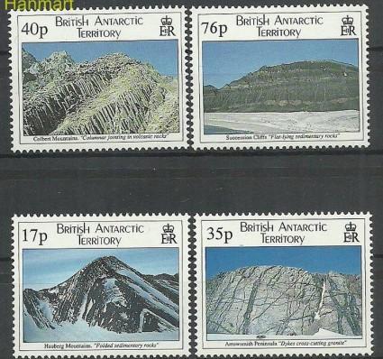 Znaczek Brytyjskie Terytorium Antarktyczne 1995 Mi 241-244 Czyste **