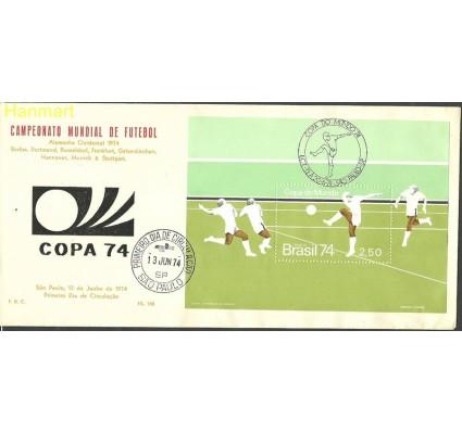 Znaczek Brazylia 1974 Mi bl34 FDC