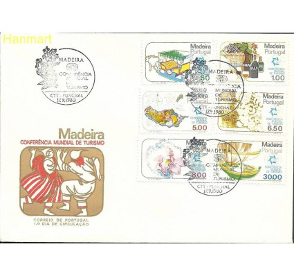 Znaczek Madera 1980 Mi 64-69 FDC