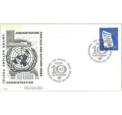 Znaczek Narody Zjednoczone Genewa 1969 Mi 5 FDC