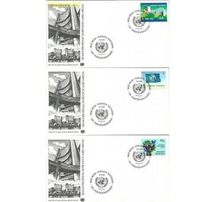 Narody Zjednoczone Wiedeń 1979 Mi 1-6 FDC