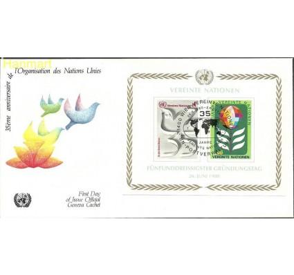 Znaczek Narody Zjednoczone Wiedeń 1980 Mi bl1 FDC