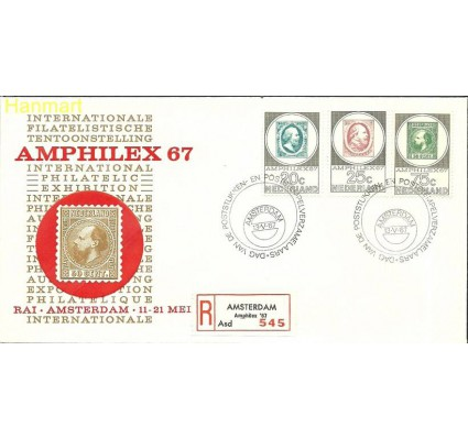 Holandia 1967 Mi 880-882b FDC