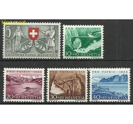 Znaczek Szwajcaria 1953 Mi 580-584 Z podlepką *