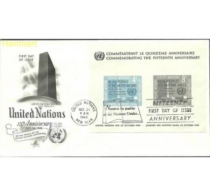 Narody Zjednoczone Nowy Jork 1960 Mi bl2 FDC
