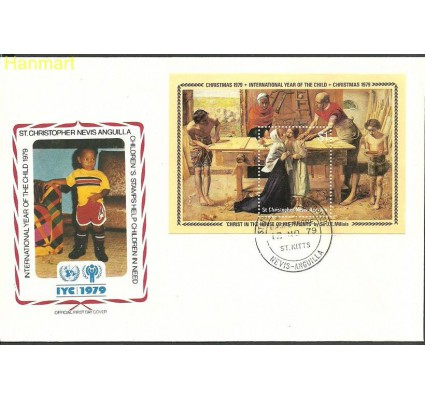 Znaczek St. Christopher Nevis Anguilla 1979 Mi bl7 FDC
