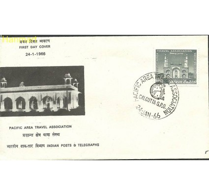 Indie 1966 Mi 405 FDC