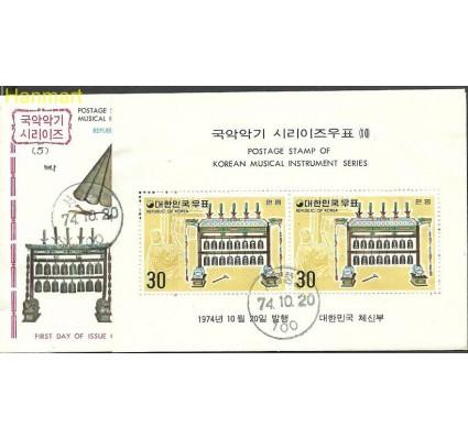 Znaczek Korea Południowa 1974 Mi bl395 FDC