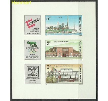 Znaczek Węgry 1987 Mi bl189B Czyste **