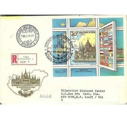 Znaczek Węgry 1983 Mi adrbl163B FDC