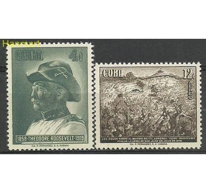 Znaczek Kuba 1958 Mi 609-610 Czyste **