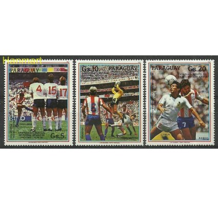 Znaczek Paragwaj 1987 Mi 4058-4060 Czyste **