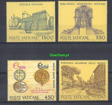 Watykan 1984 Mi 848-851 Czyste **
