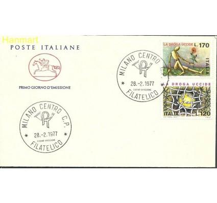 Znaczek Włochy 1977 Mi 1560-1561 FDC