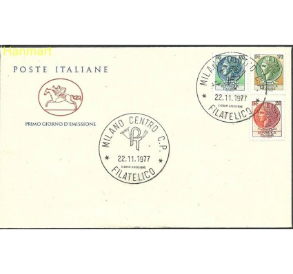 Włochy 1977 Mi 1592-1594b FDC
