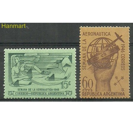 Znaczek Argentyna 1946 Mi 530-531 Czyste **