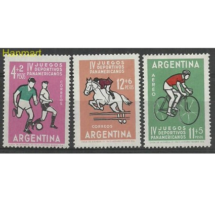 Argentyna 1963 Mi 819-821 Czyste **