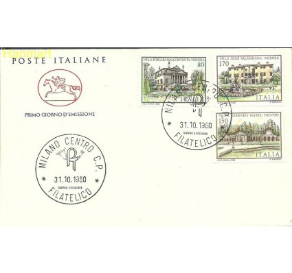 Włochy 1980 Mi 1733-1735b FDC