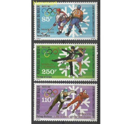 Znaczek Niger 1988 Mi 1043-1045 Czyste **