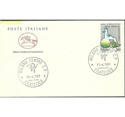 Włochy 1981 Mi 1744 FDC