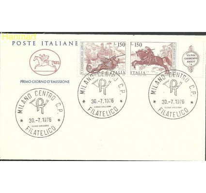 Znaczek Włochy 1976 Mi parzf1537-1538 FDC
