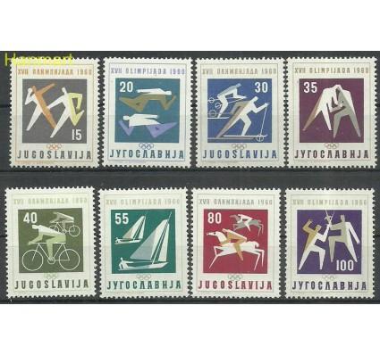 Znaczek Jugosławia 1960 Mi 909-916 Z podlepką *