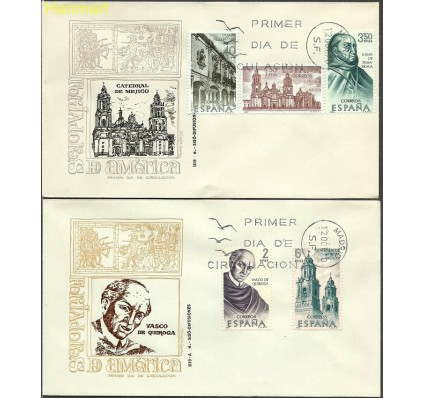 Znaczek Hiszpania 1970 Mi 1889-1893 FDC