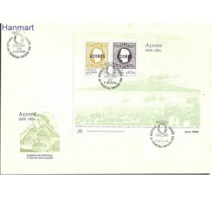 Znaczek Azory 1980 Mi bl 1 FDC
