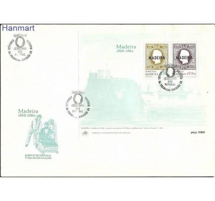 Znaczek Madera 1980 Mi bl 1 FDC