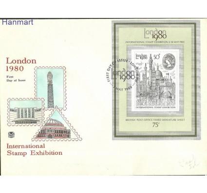 Znaczek Wielka Brytania 1980 Mi bl3 FDC